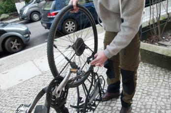 Rad ausheben